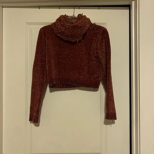 Chenille cropped sweater
